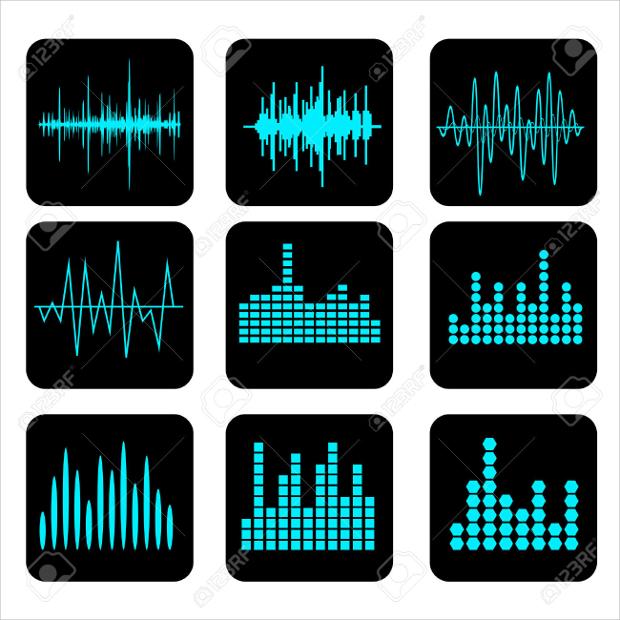 Music Sound Wave Icon Set