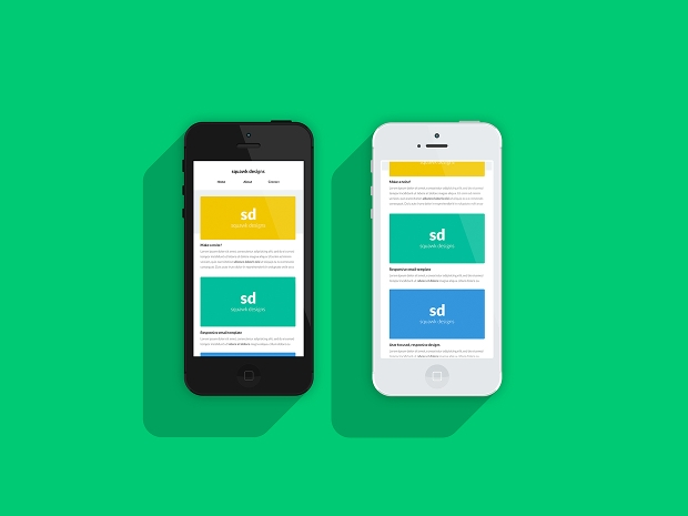 responsive email template mockup