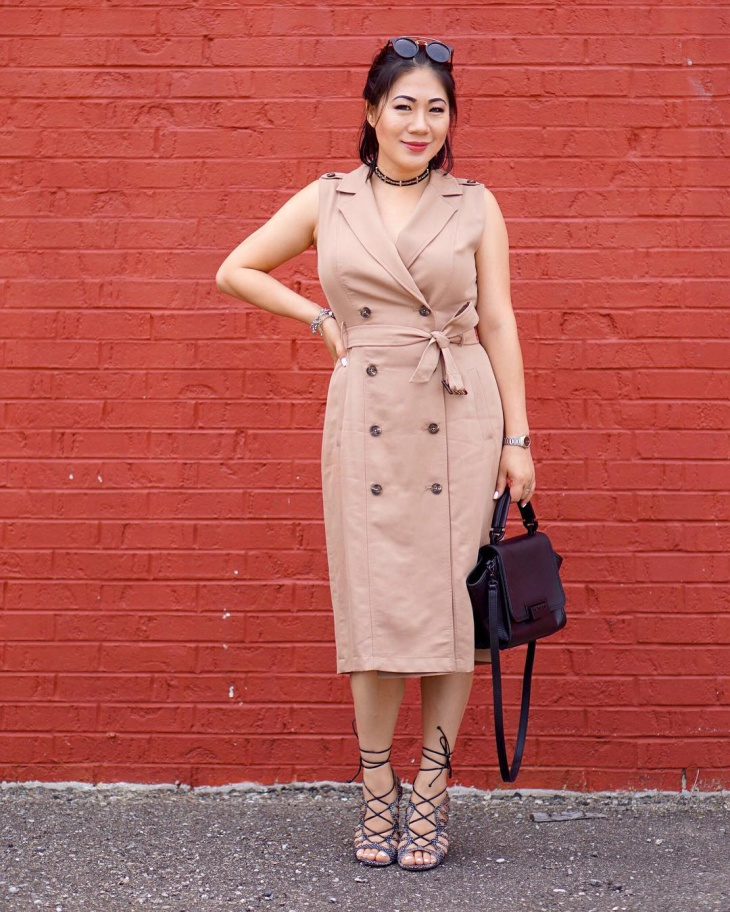 casual trench dress
