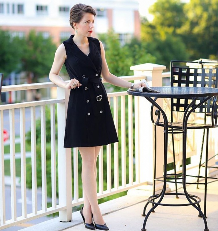 Black Trench Dress