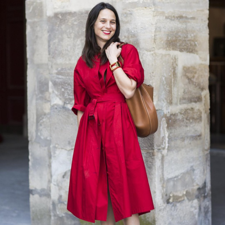 red trench dress idea