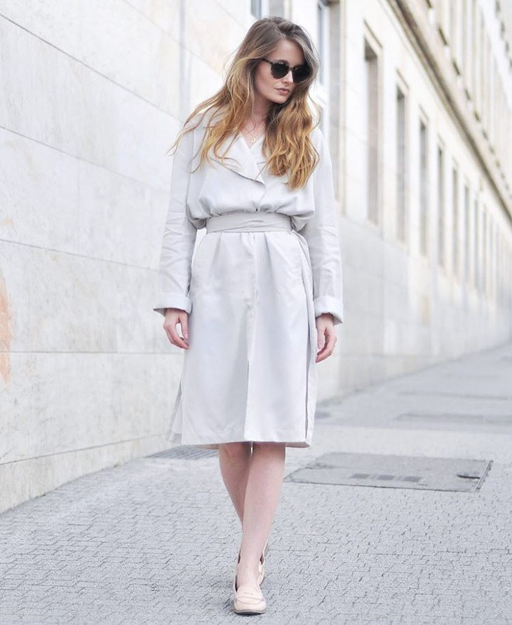 Simple Trench Dress Idea