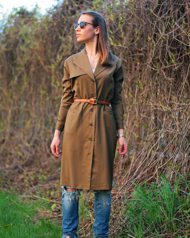 modern trench dress idea