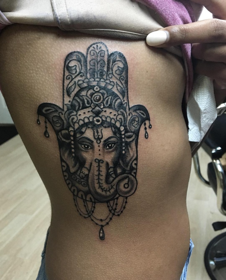 21 hamsa tattoo designs ideas design trends premium for Hamsa elephant tattoo