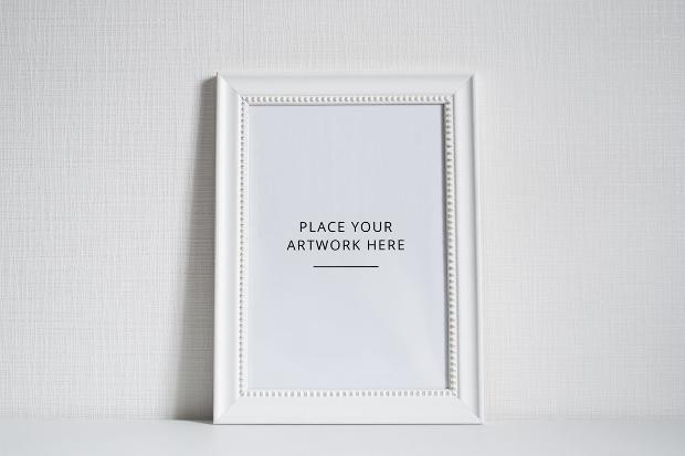 white frame mockup design