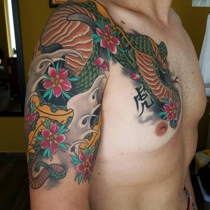 japanese cobra tattoo idea