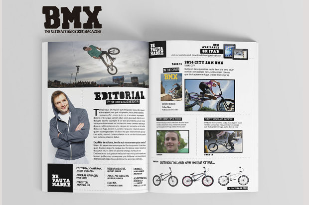 Editable Sports Magazine