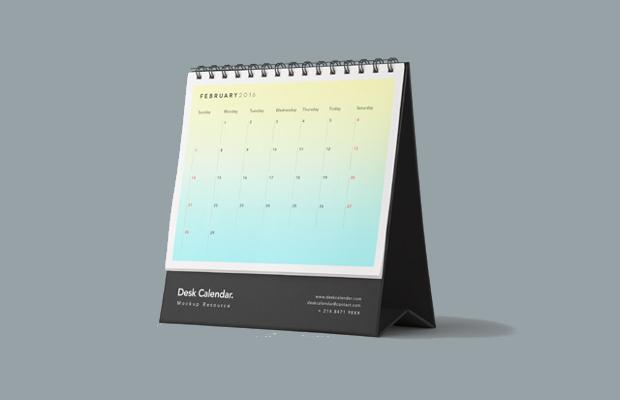 desk calendar mockup design