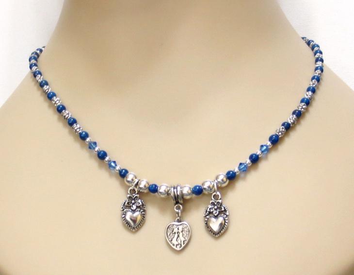 Blue Sapphire Necklace Design