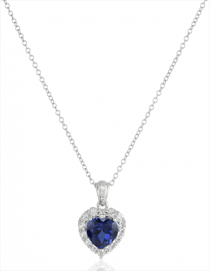 Sapphire Heart Necklace