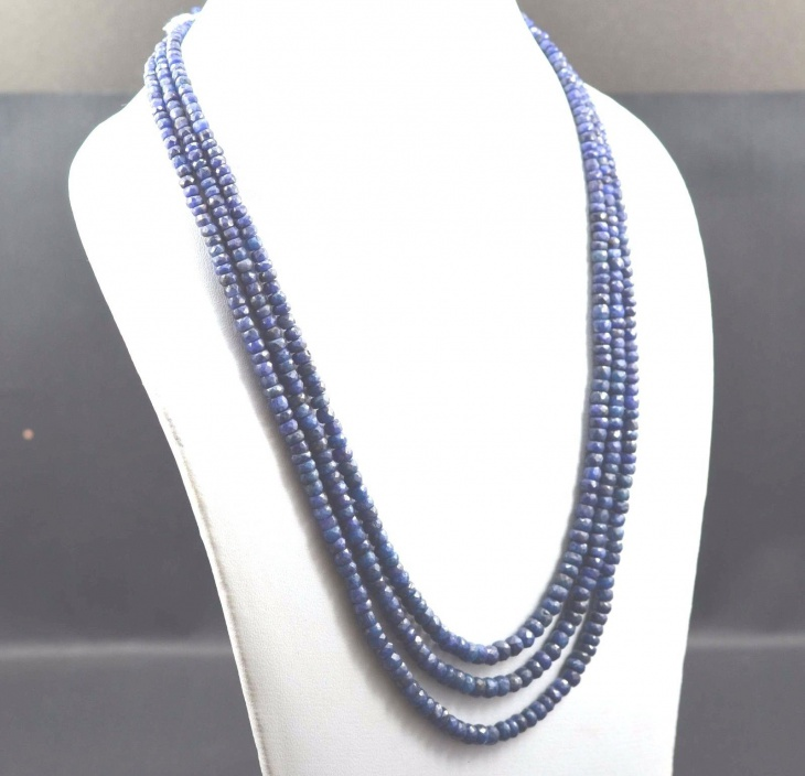 Sapphire Bead Necklace Design