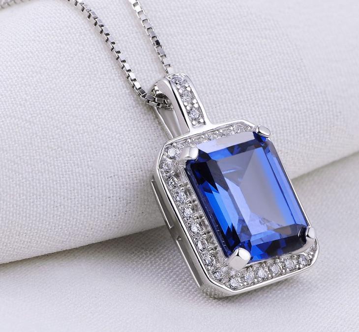 Tanzanite Blue Sapphire Necklace