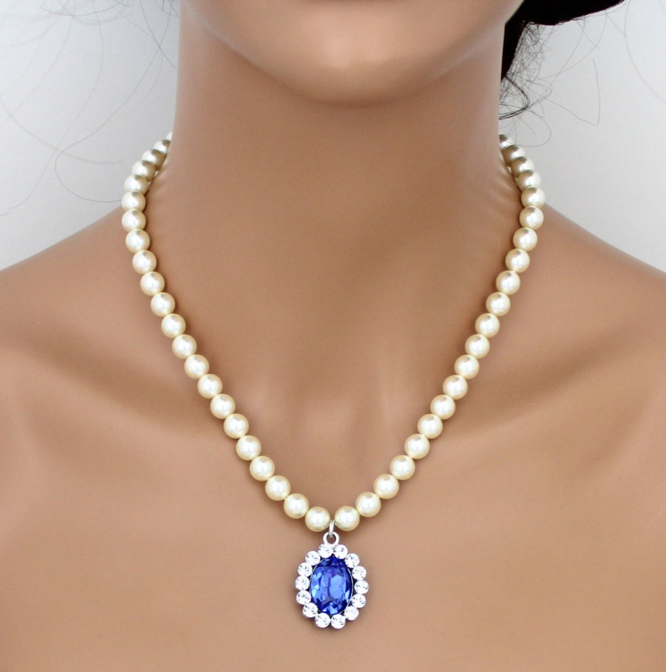 Pearl Sapphire Necklace