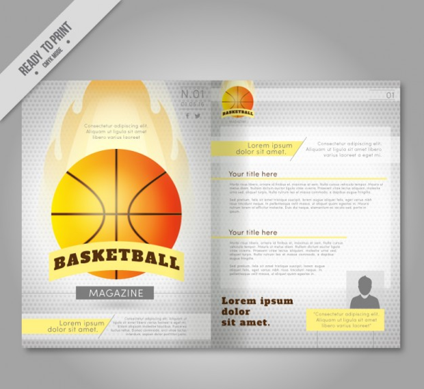 Basketball Magazine Template