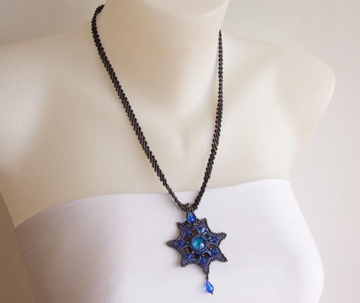 Dark Blue Sapphire Necklace