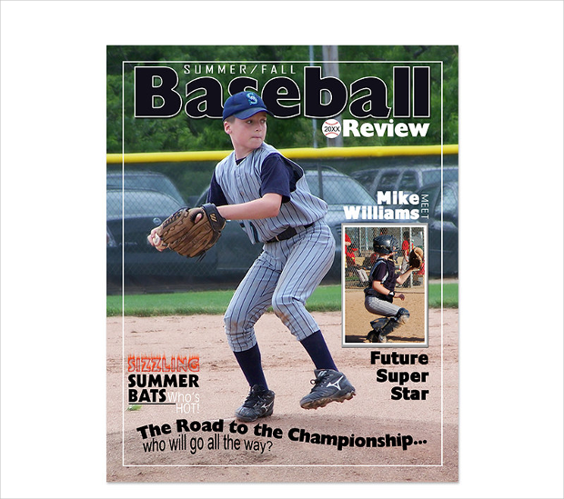 baseball magazine template