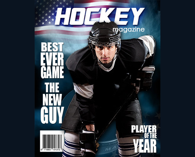 hockey photoshop magazine template