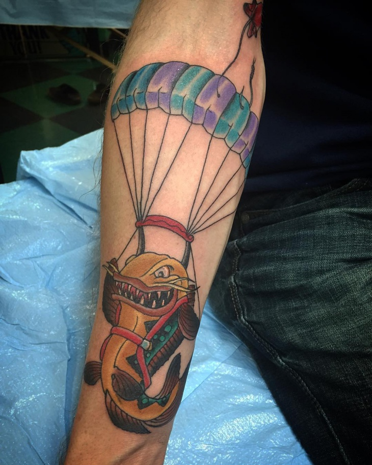 parachute catfish tattoo