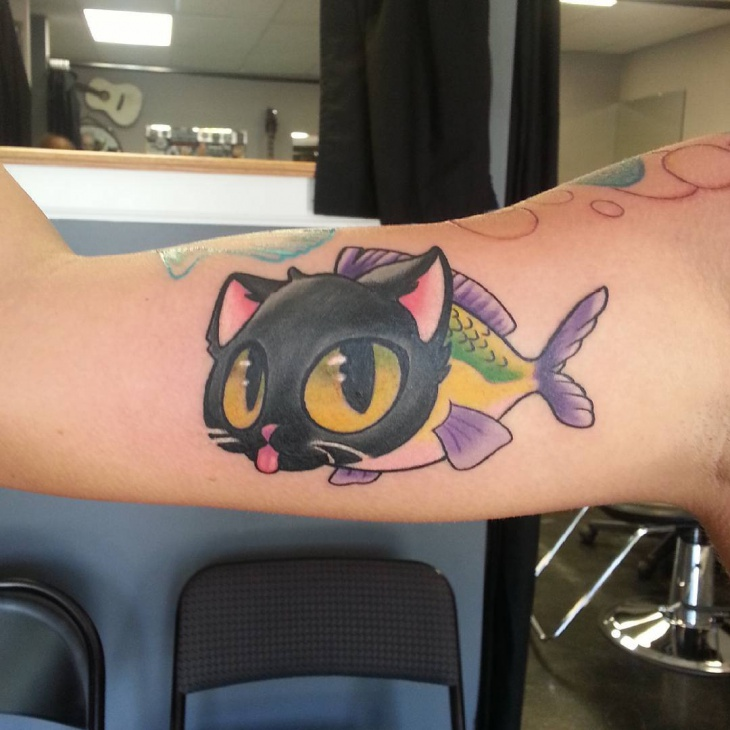 catfish arm tattoo design