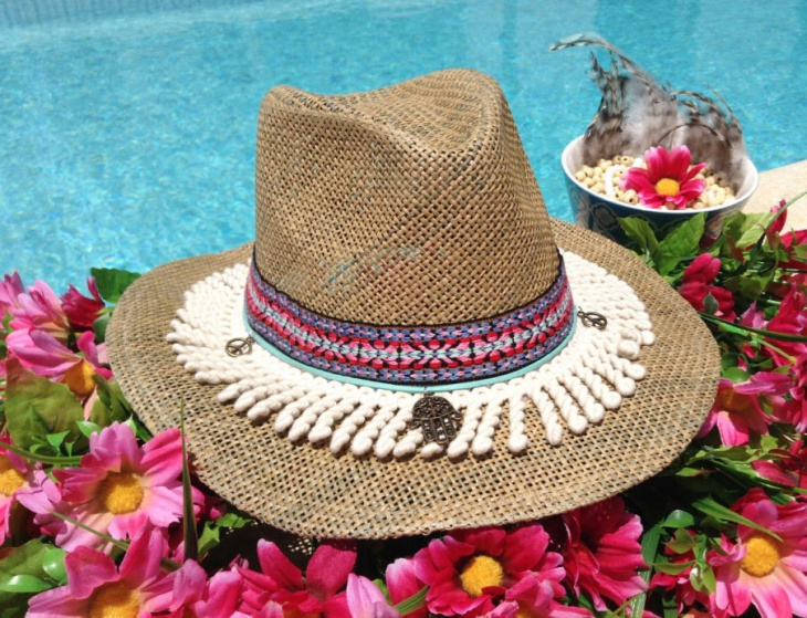 hippie straw hat design