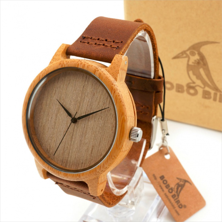 Bamboo Hipster Watch Design