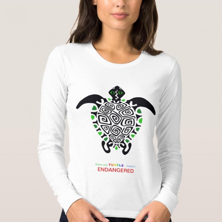 long sleeve animal t shirt
