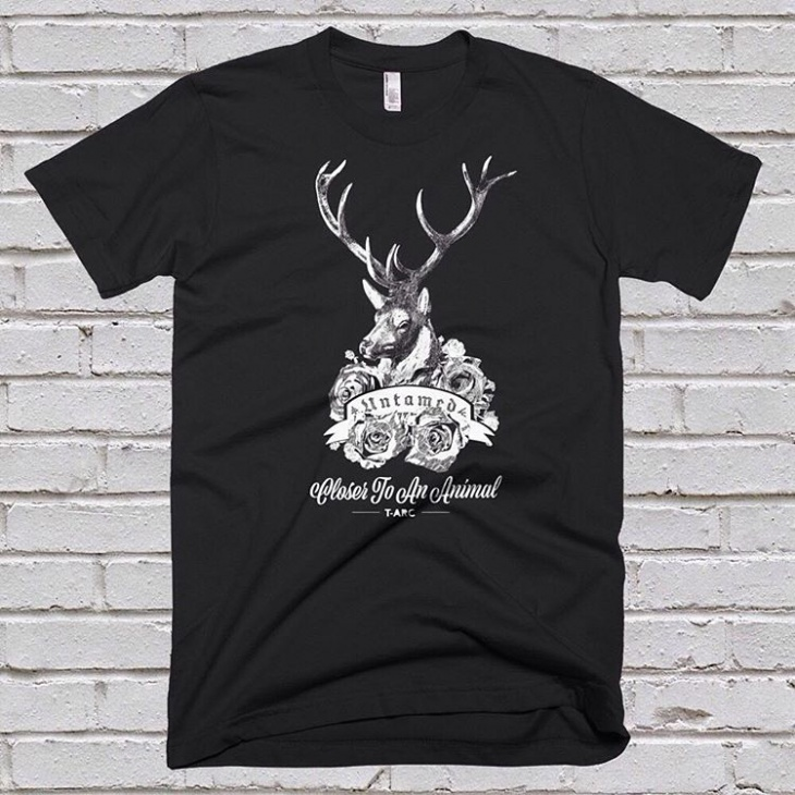 deer animal t shirt