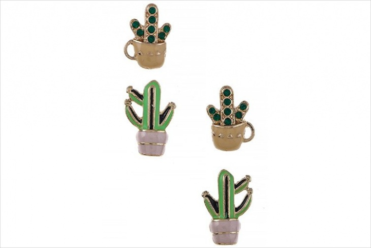 Potted Cactus Earrings Design