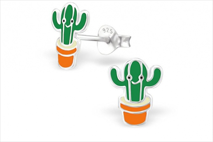 Unique Cactus Earrings Idea