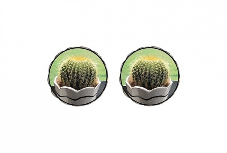 Retro Style Cactus Earrings