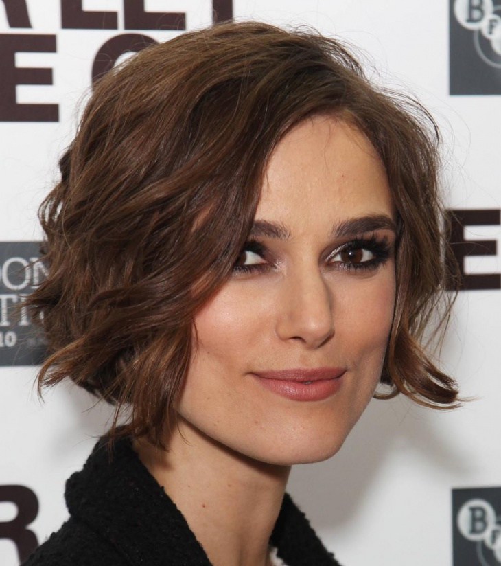 keira knightley Short Wavy Hairstyle