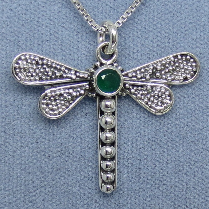 emerald dragonfly jewelry