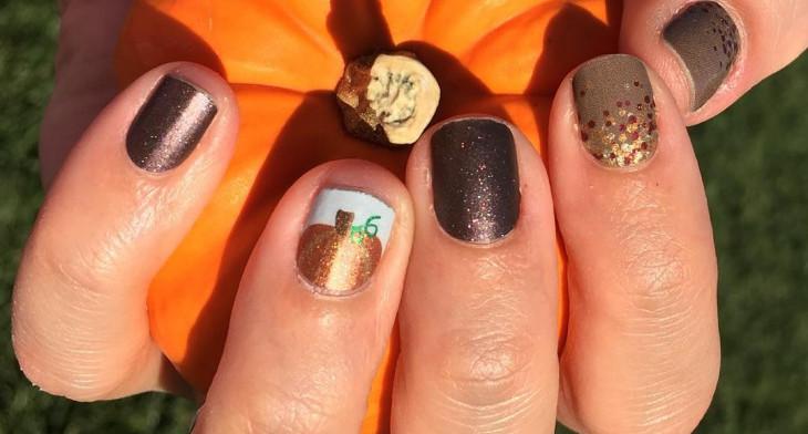 img - 21+ Pumpkin Nail Art Designs, Ideas Design Trends - Premium PSD