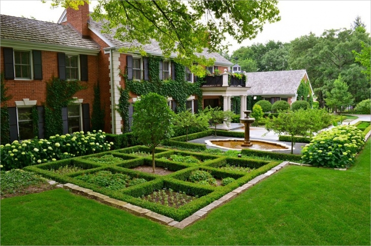 square front garden design