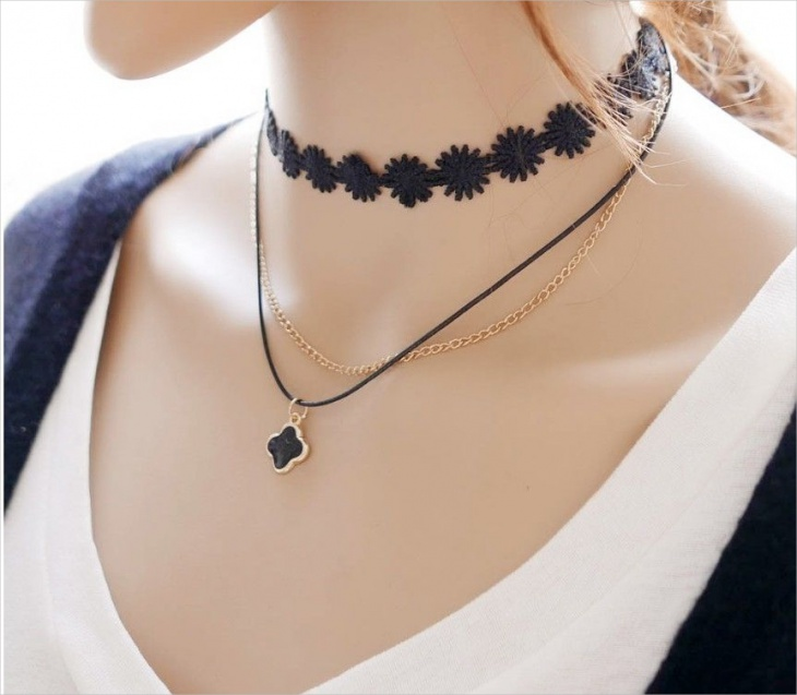 Leather Lace Necklace