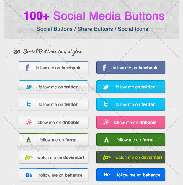 Customizable Social Media Sharing Buttons