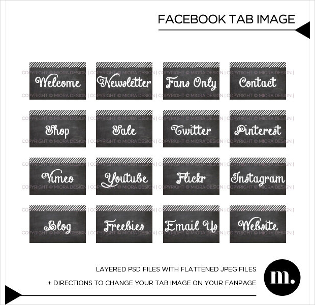 Black & White Social media Buttons