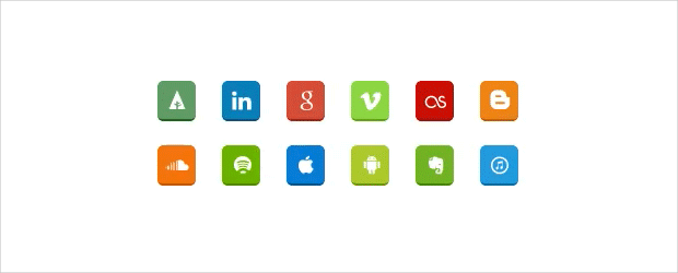 Social media Sharing Button Animated