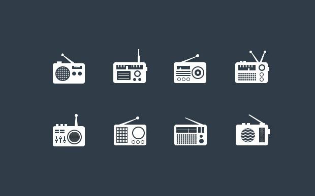 high resolution radio icons