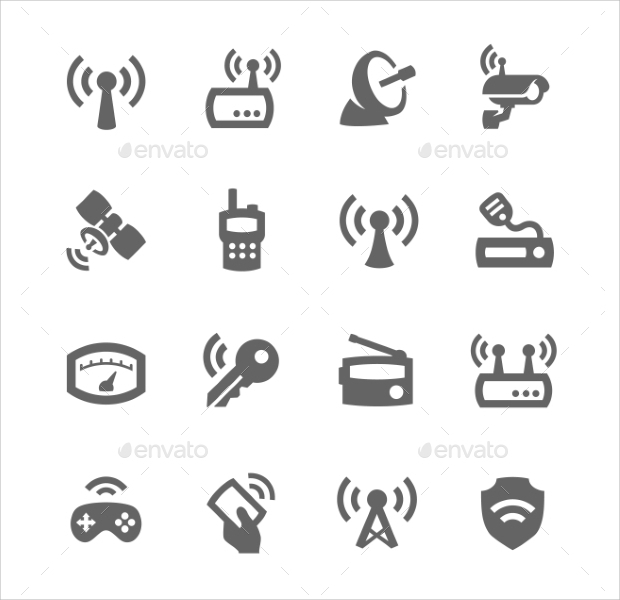 old radio vector icons