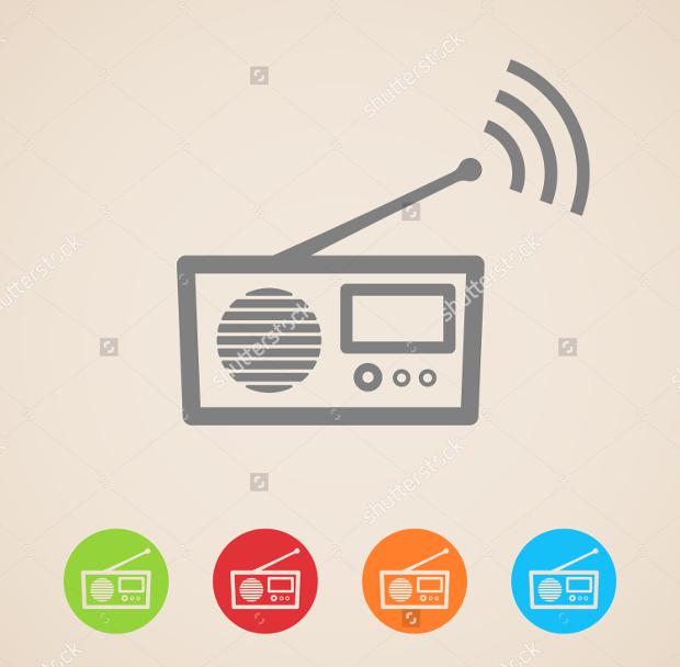 vector radio icons