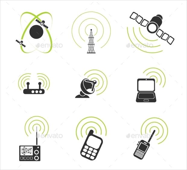 radio signal icons