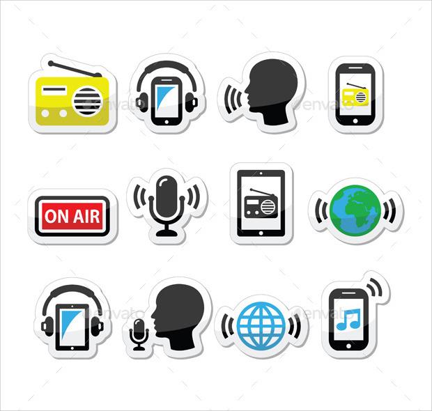 radio app icons