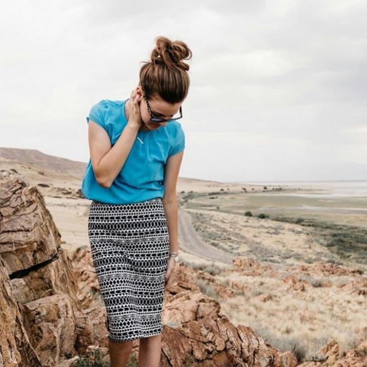 tribal print skirt dress