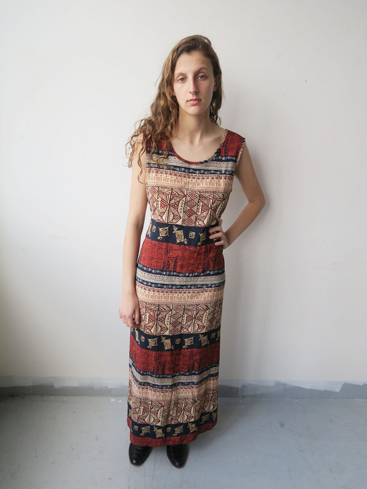 geometric tribal print dress