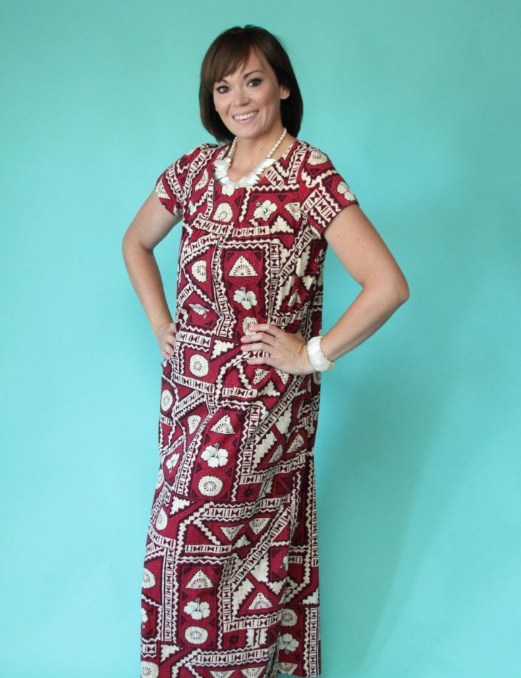 hawaiian tribal print dress