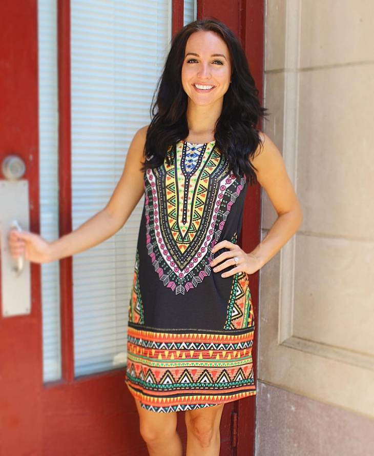 tribal print mini dress idea