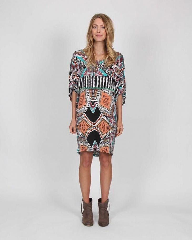 stylish tribal print dress