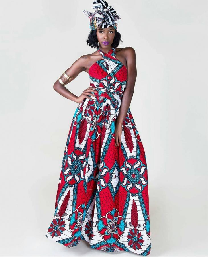 fabric tribal print dress