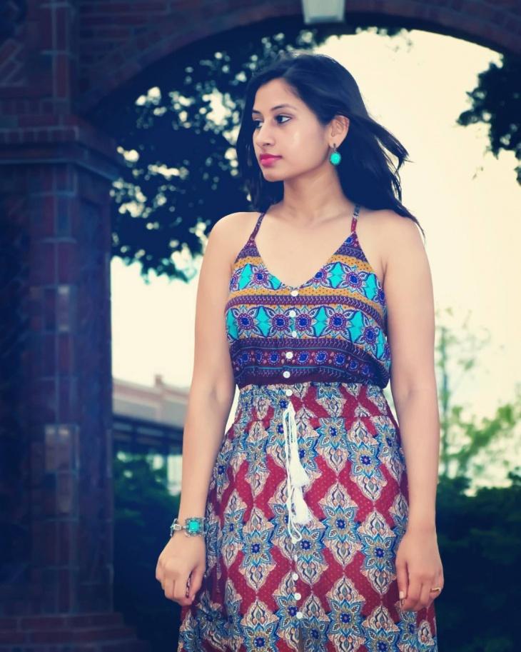 modern tribal print dress